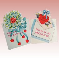 TWO Unused Vintage Americard Valentines