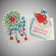 TWO Unused Vintage Americard Valentines
