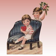 1920's Mechanical Valentine-- Young Love
