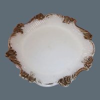 Victorian Opalescent Milk Glass Pin Tray