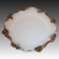 Victorian Opalescent Milk Glass Pin Tray