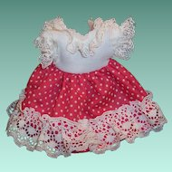 """Vintage Doll Dress for 8"""" Ginny, Muffie, Wendy, Gigi, Virga, Pam or others..."""