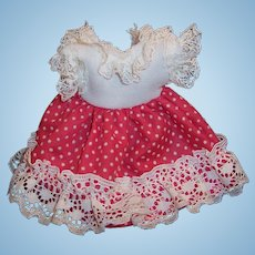 "Vintage Doll Dress for 8"" Ginny, Muffie, Wendy, Gigi, Virga, Pam or others..."