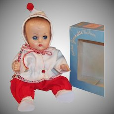 Vogue 1957 Ginnette Doll Baby, Snow Suit with Hat, Robe, Diaper, Socks and Shoes