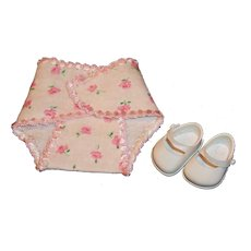 ON LAYAWAY: Vintage Vogue Ginnette White Shoes and Rosebud Diaper