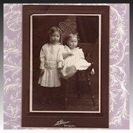 Antique Victorian Photograph of Children