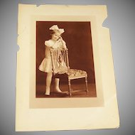 Antique Victorian Photograph Young Girl