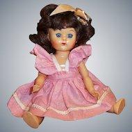 1950's Virga Walker Doll Playmate Series, Pinafore Dress, & Stand