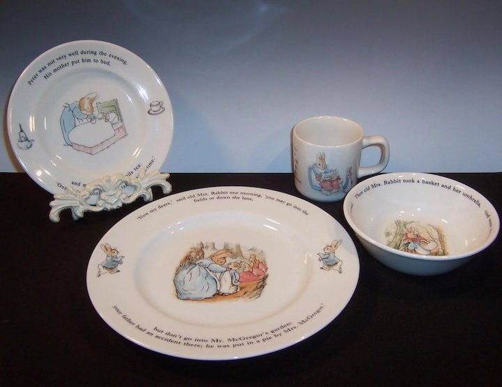 Excellent Vintage Wedgwood Peter Rabbit Childu0027s or Baby 6  Soup / Cereal Bowl : peter rabbit baby plate set - Pezcame.Com