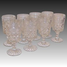 "Set of 8:  Crystal Clear Wexford Water Goblets  (6 5/8"" tall)"
