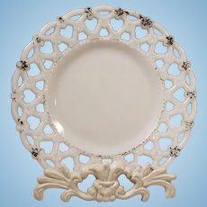 Milk Glass Reticulated Plate