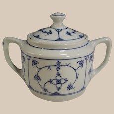 Vintage Winterling Bavaria Germany Blue & White Strawflower Covered Sugar