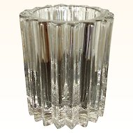 Ribbed Glass Toothpick Holder Mint Condition