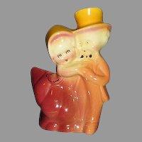 Dancing Couple Figural Planter Beautiful Colors