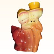 Dancing Couple Figural Planter Beautiful Colors