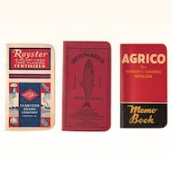 Farmers Pocket Notebooks 1940-50s Royster, AGRICO, Griffith and Boyd Company