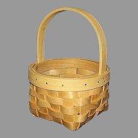 Small Round Handmade Maple Splints Basket