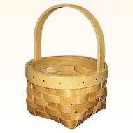 Maple Splints Round Basket Hand Woven