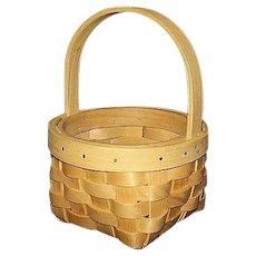 Maple Splints Round Basket Hand Woven
