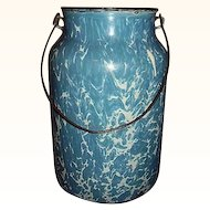 Blue Swirl Granite Ware Graniteware Milk Can