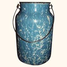 Blue Swirl Granite Ware Graniteware Milk Can