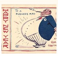 Happy New Year To A Business Man Satire Post Cards ~ Set of 2