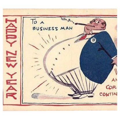Happy New Year To A Business Man Satire Post Cards Set Of 2