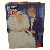 Barbie And Ken 100-Piece Jigsaw Puzzle dated 1987 ~ Golden 4609-43