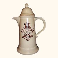 Pfaltzgraff Village Tall Coffee Pot ~ Made in USA