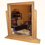 Oak Shaving Tilting Vanity Mirror
