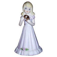 "Enesco ""Growing Up"" Birthday Girl Figurine, Age 9, Dated 1981"