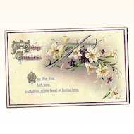 "1912 Embossed ""Easter Series"" Post Card No. 504 ~ Printed in Germany"