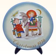 Hummel Sacred Journey 1976 Christmas Plate
