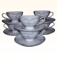 """Imperial China """"Seville"""" Japan ~ 6 Cup & Saucer Sets Grouping"""