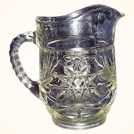 Anchor Hocking Early American Prescut 18 ounce Juice Pitcher