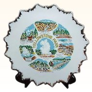 Yellowstone Park Souvenir Plate ~ Japan