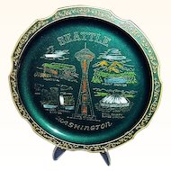 Seattle Washington Souvenir Tray Kingdome Stadium, Made in Japan