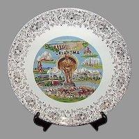 Oklahoma Will Rogers Souvenir Plate