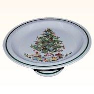 Christmas Cake Plate Cake Stand Pedestal Japan