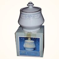 Sheffield Blue Whisper Footed Sugar Bowl ~ Japan ~ 1985 MIB