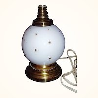 1960's Boudoir Lamp ~ Gold Starbursts