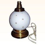 1960's Boudoir Lamp ~ Gold Starbursts