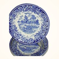 "British Anchor, Stratford, ""Scenes From The Shakespeare Country"" Four Saucers"