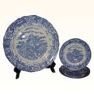 Salem China Olde Staffordshire Ironstone English Village 3 Piece Grouping