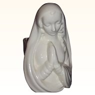 Haeger Madonna Head Vase Planter All White