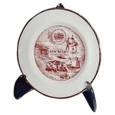 "New Mexico Miniature Souvenir Plate Gold Edge ""The Land of Enchantment"""