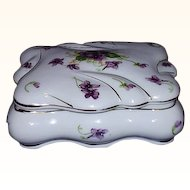 Norcrest Fine China Vanity Box, Sweet Violets