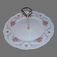 "Royal Albert Bone China ""Tranquility"" Tidbit Plate, Center Handle"