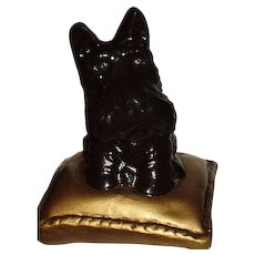 Scottie Dog on Pillow Bookend