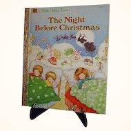 Night Before Christmas 1987 Little Golden Book